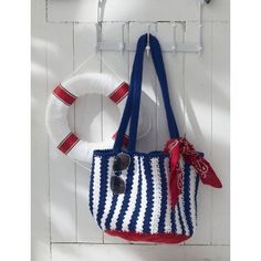 Nautical Striped Bag | Crochet | Free Pattern | Yarnspirations | Summer