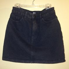 Black Denim Mini Skirt Brand new without tags Fits true to size, high waisted BDG from Urban Outfitters Urban Outfitters Skirts Mini