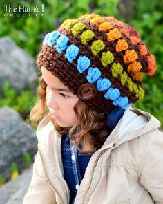 CROCHET PATTERN  Bohemian Nights Hat  a slouchy hat от TheHatandI