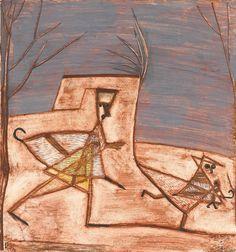 Watercolor and gouache on paper mounted on card. Kandinsky, Klimt, Carl Spitzweg, Futurism Art, Paul Klee Art, Gouache, Renaissance, Les Religions, Georges Braque
