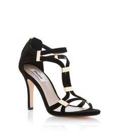 Dune Harleigh suede stiletto dressy sandals.