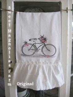 Flour Sack Kitchen Towel Shabby Cottage by SweetMagnoliasFarm, $14.00