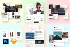 Ease UI Components by kkuistore on Envato Elements Ui Components, Ecommerce Shop, Web Ui Design, Magazine Template, Magazine Design, Photoshop, Templates, Stencils, Vorlage