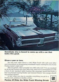 1967 Pontiac Wide-Track Advertisement Readers Digest December 1966 | Flickr - Photo Sharing!
