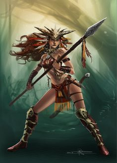 DeviantArt is the world's largest online social community for artists and art enthusiasts, allowing people to connect through the creation and sharing of art. Fantasy Warrior, Fantasy Art, Fantasy Drawings, Dark Fantasy, Fantasy Characters, Female Characters, Soldado Universal, Character Concept, Character Design