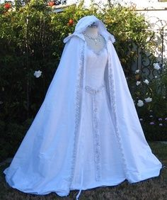 Wicca wedding dress and cape