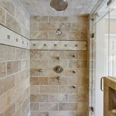 1000 images about rustic shower on pinterest rustic for Tumbled marble bathroom designs