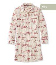 Bean's Flannel Nightshirt, Print