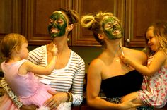 Green Goddess DIY Fave Mask with our mini Picassos!  http://www.mamasonamission.org/green-goddess-face-mask/