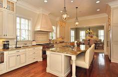 Stunning Kitchen ~ we love the hood!