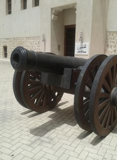Al Hisn Palace Museum - Cannon near the entrance of the museum.