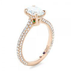 Joseph Jewelry peekaboo gem engagement rings @weddingchicks