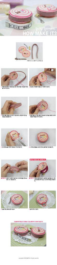 Felt tape measure cover - Instructions in Korean