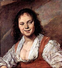 Portrait of a woman, known as The Gipsy girl, 1629 by Frans Hals. Baroque. portrait. Musée du Louvre, Paris, France