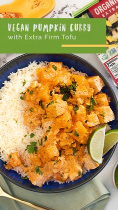 Pumpkin Curry deserves Nasoya Tofu! Mix up all your favorite fall ingredients and stay warm and cozy with this plant-based meal! Tasty Vegetarian Recipes, Raw Food Recipes, Appetizer Recipes, Dinner Recipes, Appetizers, Healthy Recipes, Pumpkin Curry, Vegan Pumpkin, Cholesterol Friendly Recipes