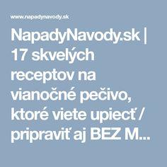 NapadyNavody.sk   17 skvelých receptov na vianočné pečivo, ktoré viete upiecť / pripraviť aj BEZ MASLA