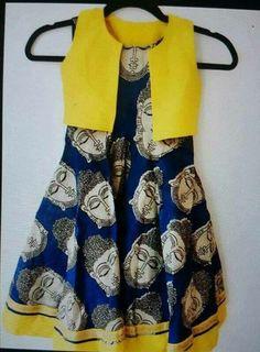 Frocks For Girls, Dresses Kids Girl, Kids Outfits, Baby Dresses, Kids Indian Wear, Kids Ethnic Wear, Baby Dress Design, Frock Design, Kids Gown