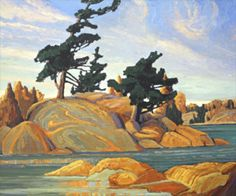 Island Georgian Bay - Franklin Carmichael, Group of Seven. Tom Thomson, Emily Carr, Group Of Seven Artists, Group Of Seven Paintings, Canadian Painters, Canadian Artists, Canadian Things, Landscape Art, Landscape Paintings