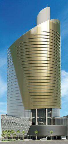 Fachada de nuestro hotel. Diseñado por el reconocido arquitecto Carlos Ott.