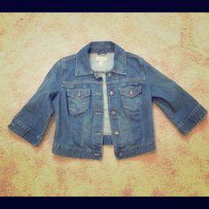 Jean Jacket - LOFT 3/4 length jean jacket with slight stretch material.  Very gently used. LOFT Jackets & Coats Jean Jackets