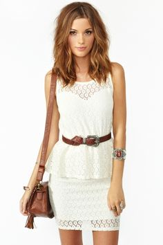 Laced Peplum Dress