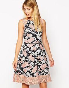 Bild 1 von Oasis – Rose – Kleid im Stil der 50er Jahre