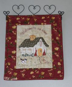 Wall hanging - cottage. Val Laird