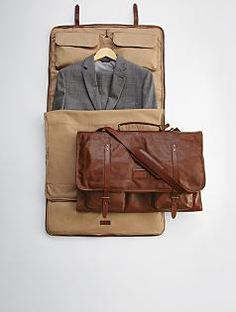 leather excursion garment bag (maybe not leather though)