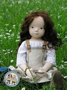 :: Crafty :: Cloth Doll :: Diana- soft sculpted cloth doll by Lalinda.pl | by Lalinda.pl