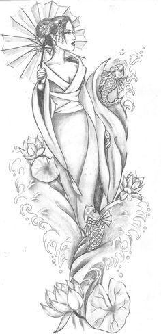 Geisha - sketch inspiration