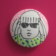 Sunny Day Spirited Art, Sunny Days, Buttons, Creative, Artist, Fabric, Projects, Handmade, Tejido