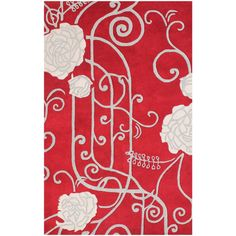 ZnZ Rugs Gallery Hand Made Red New Zealand Blended Wool Rug (5' x 8') - Overstock™ Shopping - Great Deals on 5x8 - 6x9 Rugs