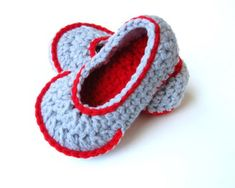 Toddler slippers, children clothng, Toddler slippers socks, children loafers, crochet, slippers with no slip sole option- red and grey