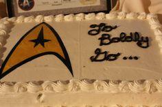 Star Trek Grooms cake To Boldly Go...