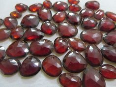 AAA Quality Natural Hessonite Garnet Flat Rose Cut Uneven shape Talpe 25Cts Or 50Cts Lot