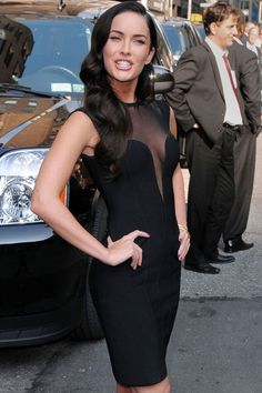 Megan Fox Black Mesh Bandage Dress   Item No. : DP24080  Price : $202.99  Sizes XS, S, M & L available.   90% Rayon, 9% Nylon & 1% Spandex.   To order today, please email us at dieprettyclothing@gmail.com  We look forward to hearing from you!  ~ Die Pretty Clothing Co. www.dieprettyclothingco.com