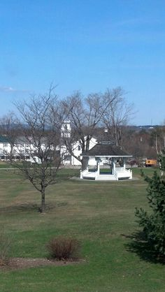 View of the New London green from Whipple Hall in New London, NH