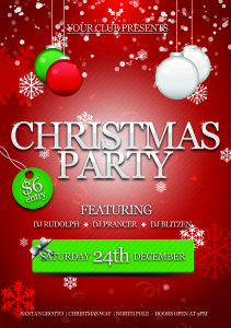Office Christmas Party Flyer PSD | Christmas party invitations ...