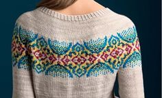 Byzantine Pullover stranded knitting pattern by Tanis Lavallee on Ravelry