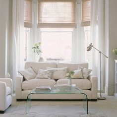 White living room with clear furniture | Living room ideas | Living room | PHOTO GALLERY | Ideal Home | Housetohome.co.uk