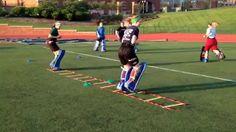 Field Hockey Goalie Warm Up Ladder Drill 1