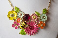 'Flower Garden Necklace' is going up for auction at  9pm Thu, Jun 21 with a starting bid of $7.