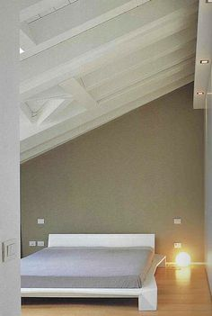 Mansard roof - Recovery attic  Project by Fabio Carria architect Milan 2007