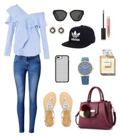 """""""Untitled #16"""" by tran-le-phuong-khanh ❤ liked on Polyvore featuring WithChic, FAIR+true, Prada, adidas, Casetify and Burberry"""
