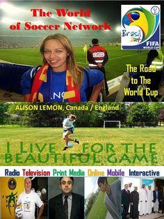 Alison Lemon, co-host co-host of The World of Soccer Radio Show on iTunes with Juan Carlos Cordero and Joseph Pecorelli. Online Mobile, Fifa, World Cup, Itunes, Joseph, Lemon, Soccer, Baseball Cards, Sports