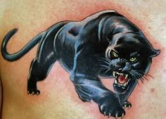 Sadie's black panther tattoo