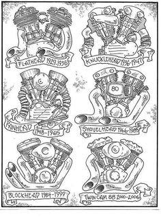 Cool Harley Davidson motorcycles poster