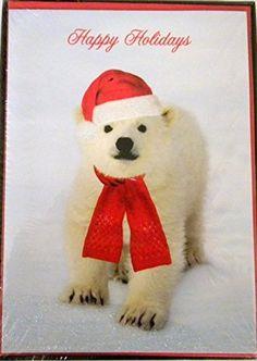 National Geographic Polar Bear Christmas Cards-- 18 Ct
