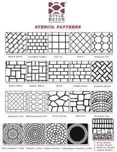 Brick patterns , Herring bone pattern , basket weave
