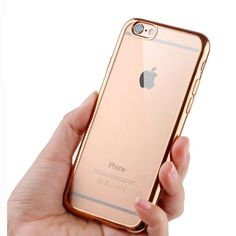 Ultra Thin Rose, Silver Gold or Pink Crystal Clear Case For iPhone 6 6s Plus 5 5S SE Glam